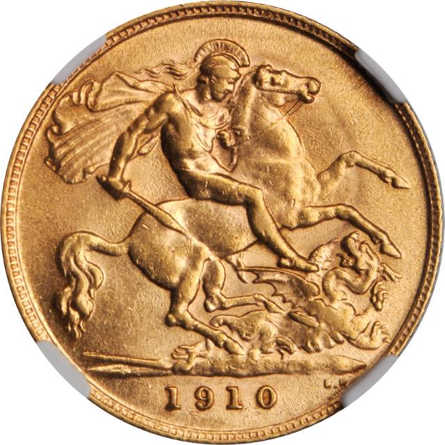 Half Sovereign 1910: Photo Great Britain 1910 1/2 sovereign