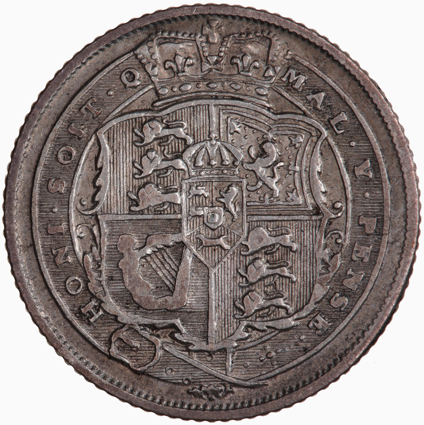Sixpence: Photo Coin - Sixpence, George III, Great Britain, 1817