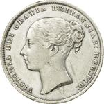 Shilling 1864: Photo Silver shilling, Great Britain