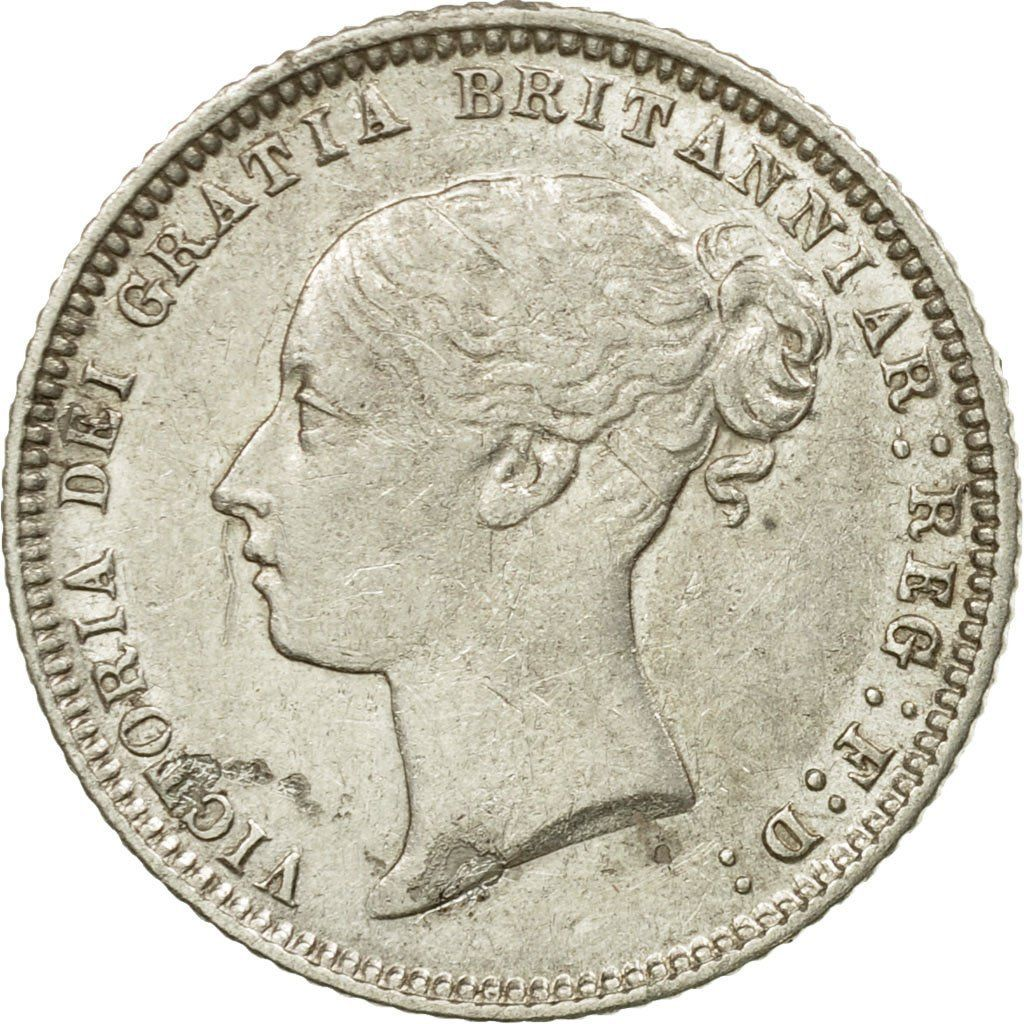 Sixpence 1874: Photo Coin, Great Britain, Victoria, 6 Pence, 1874