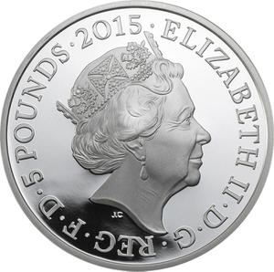 United Kingdom / Five Pounds 2015 Albert Ball - obverse photo