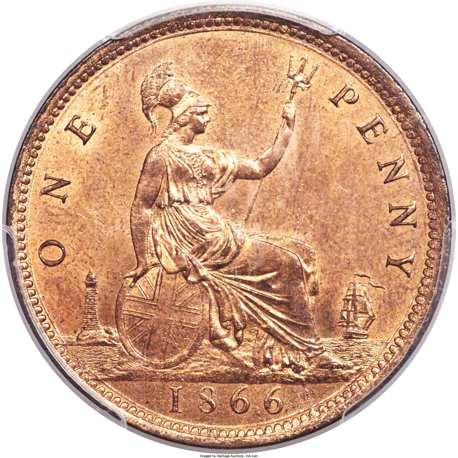 Penny 1866: Photo Great Britain 1866 penny