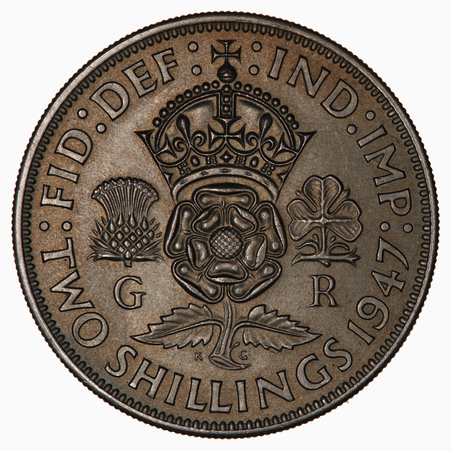 Two Shillings (Florin) 1947: Photo Coin - Florin (2 Shillings), George VI, Great Britain, 1947