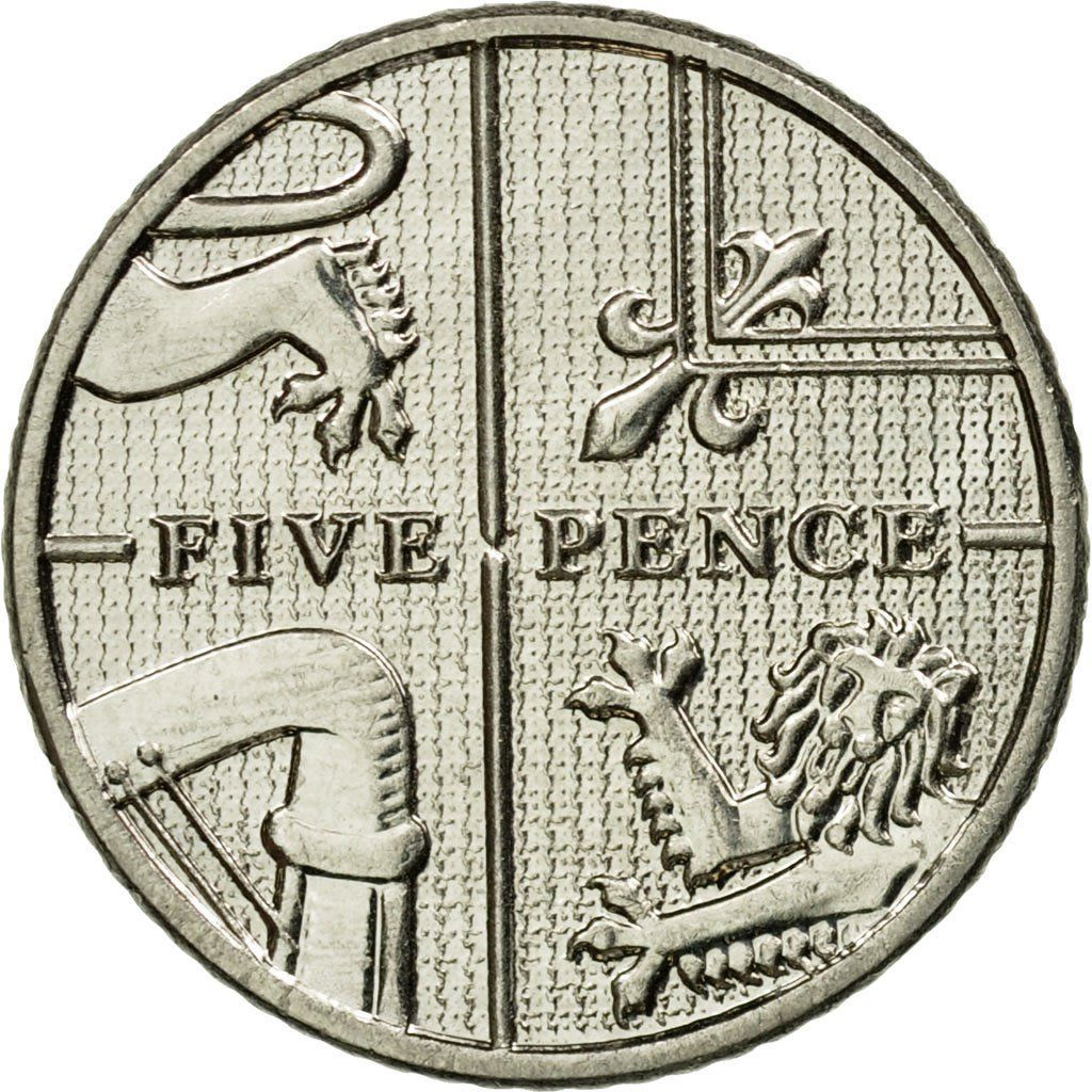 Five Pence 2014: Photo Coin, Great Britain, 5 Pence, 2014