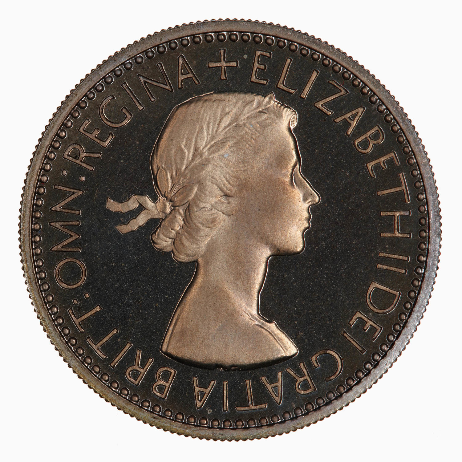English Shilling (Second Design): Photo Proof Coin - Shilling, Elizabeth II, Great Britain, 1953