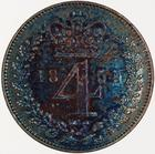 Fourpence 1854 (Maundy): Photo Coin - Groat (Maundy), Queen Victoria, Great Britain, 1854