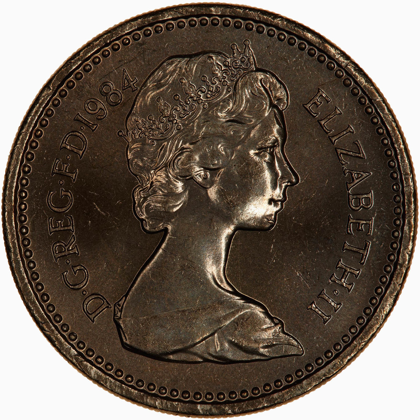 One Pound 1984: Photo Coin - 1 Pound, Elizabeth II, Great Britain, 1984