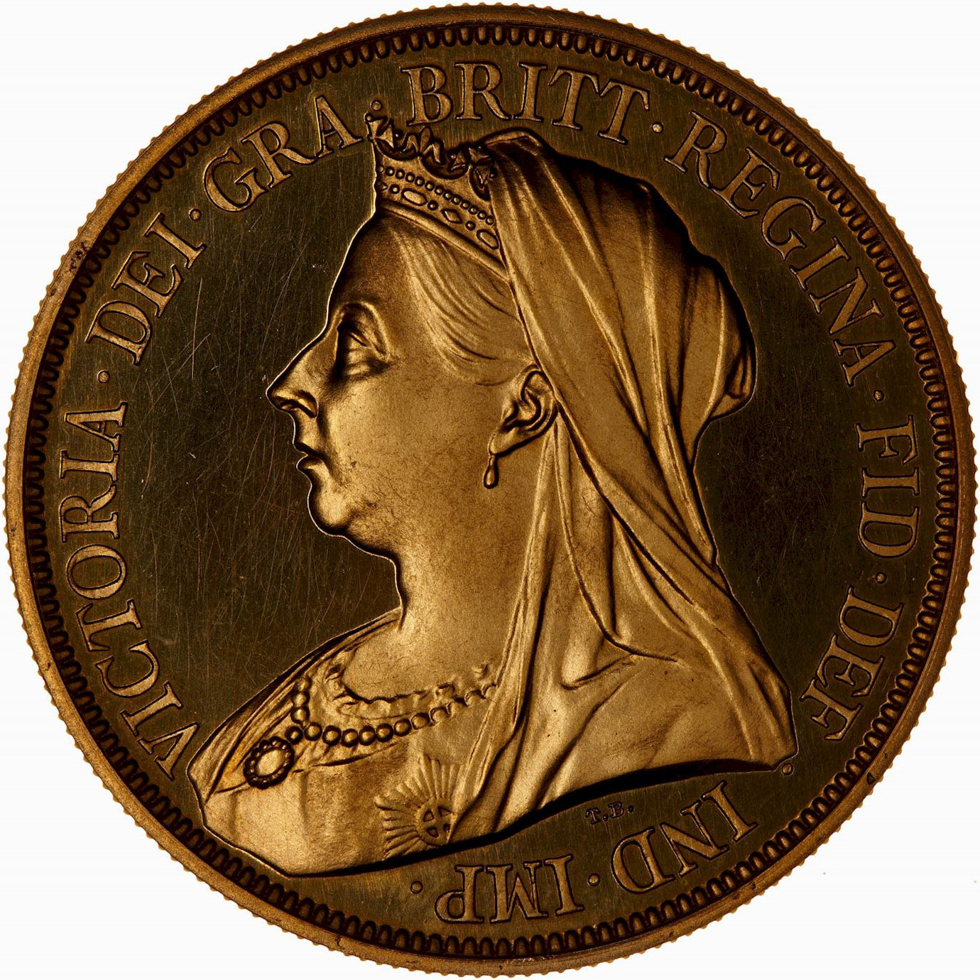 Five Pounds (Pre-decimal): Photo Proof Coin - 5 Pounds, Queen Victoria, Great Britain, 1893