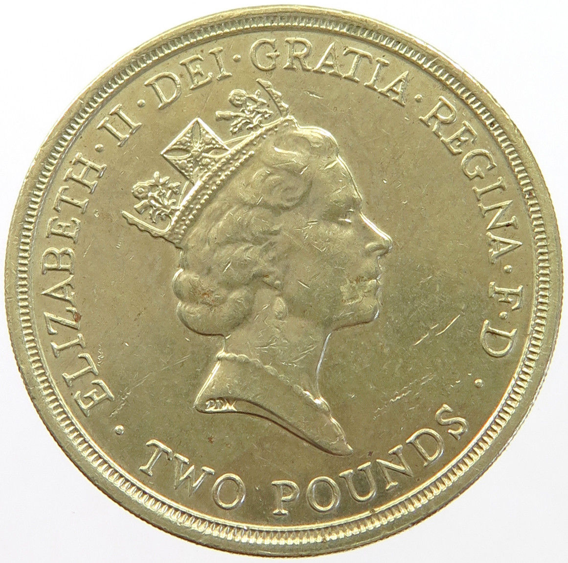 Two Pounds 1995 WW2: Photo Great Britain Two Pounds 1995
