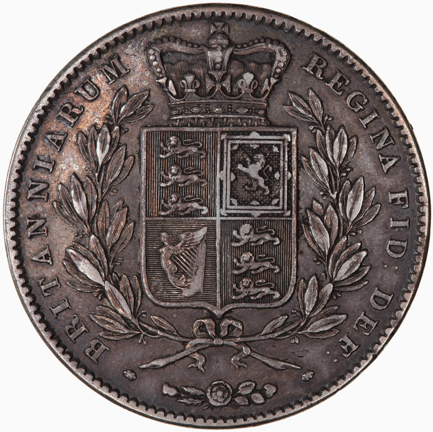 Crown 1844: Photo Coin - Crown, Queen Victoria, Great Britain, 1844