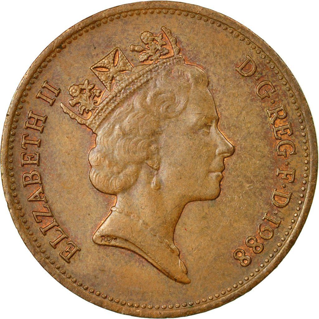 Two Pence 1988: Photo Coin, Great Britain, Elizabeth II, 2 Pence, 1988