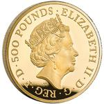 United Kingdom / Gold Five Ounces 2019 Una and the Lion - obverse photo