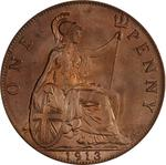 Penny 1913: Photo Coin - Penny, George V, Great Britain, 1913
