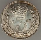 Threepence 1853 (Maundy): Photo Great Britain 1853 3 pence