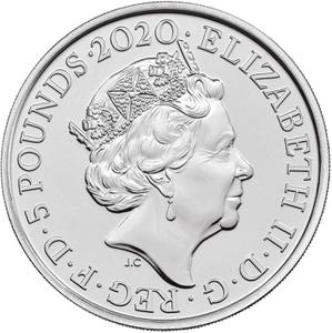 United Kingdom / Five Pounds 2020 Royal Menagerie - obverse photo