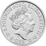 United Kingdom / Five Pounds 2020 Royal Menagerie / Brilliant Uncirculated in presentation folder - obverse photo