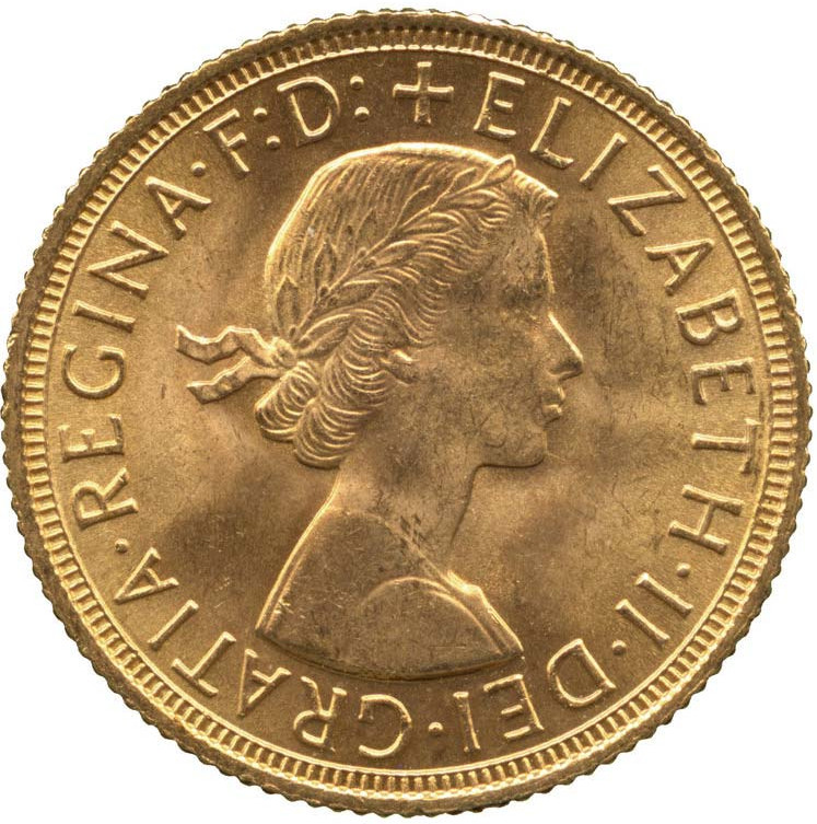 Sovereign 1959: Photo Gold sovereign, London (England), 1959