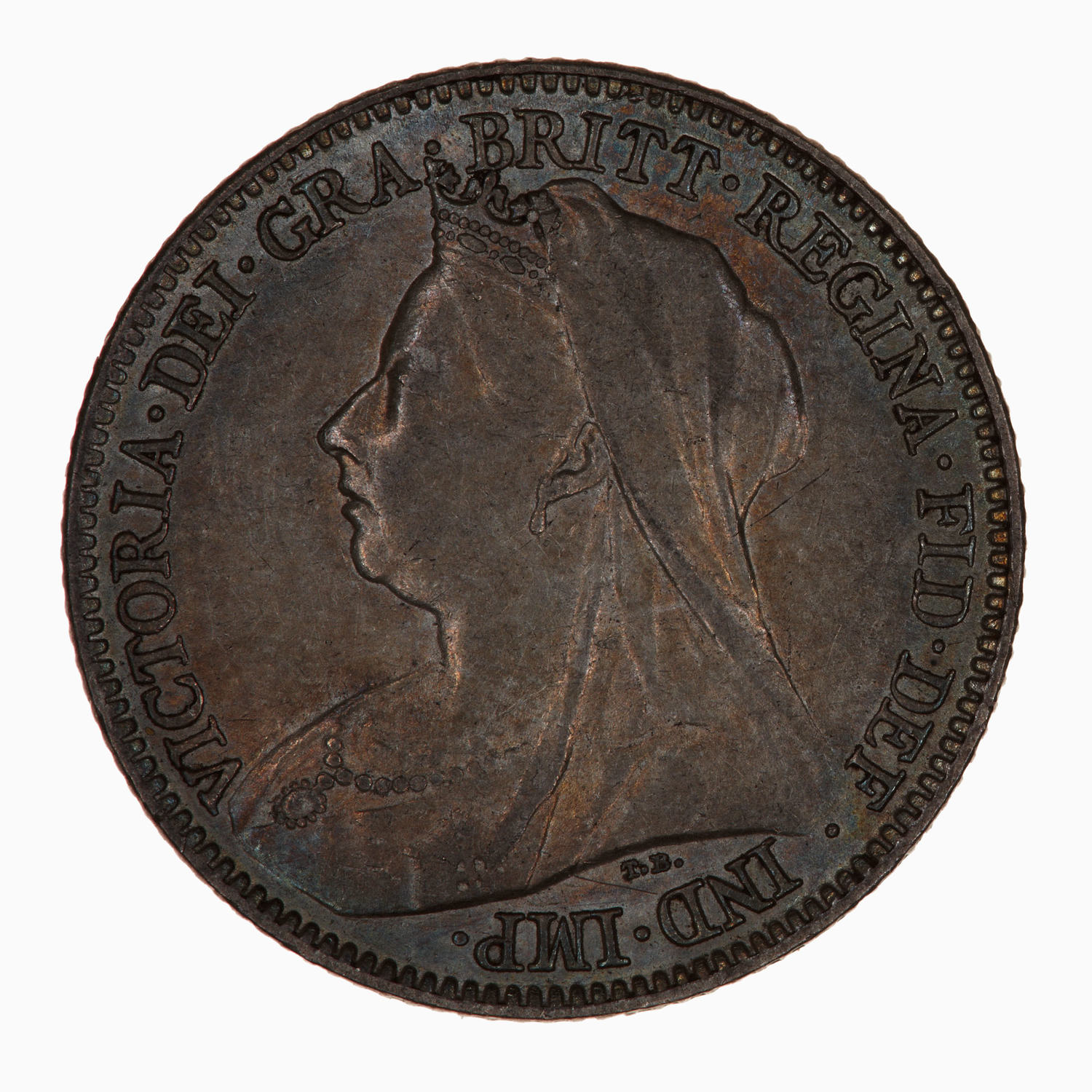 Sixpence Wreath (Second Design): Photo Coin - Sixpence, Queen Victoria, Great Britain, 1900