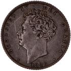 United Kingdom / Sixpence 1826 Third Reverse - obverse photo