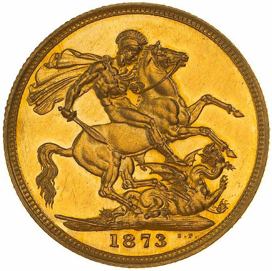 Sovereign 1873 St George: Photo Proof Coin - Sovereign, Victoria, Australia, 1873