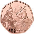 United Kingdom / Fifty Pence 2019 Paddington Bear at St Paul's / Gold Proof FDC - reverse photo