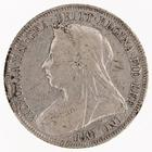 Shilling 1896: Photo Silver shilling, Great Britain