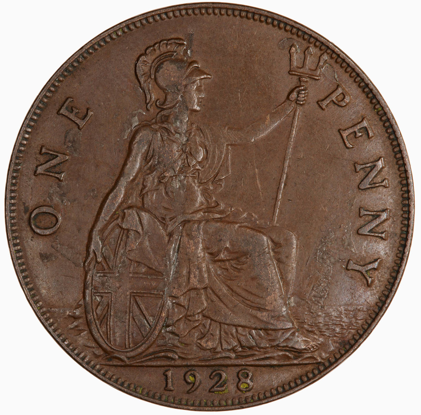 Penny 1928: Photo Coin - Penny, George V, Great Britain, 1928