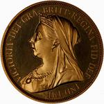 Five Pounds 1893: Photo Proof Coin - 5 Pounds, Queen Victoria, Great Britain, 1893