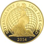 United Kingdom / Gold Quarter Ounce 2014 Britannia (Proof) - reverse photo