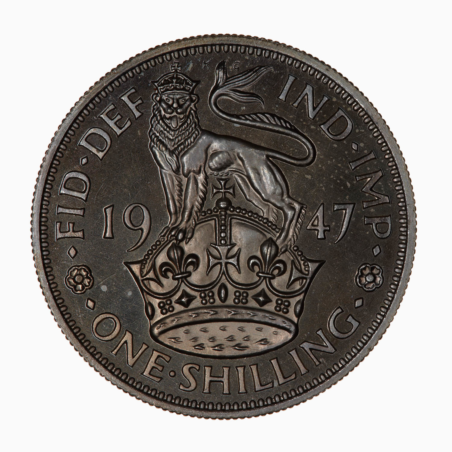 Shilling: Photo Proof Coin - Shilling, George VI, Great Britain, 1947