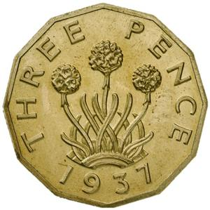 United Kingdom / Threepence (Pattern) - reverse photo