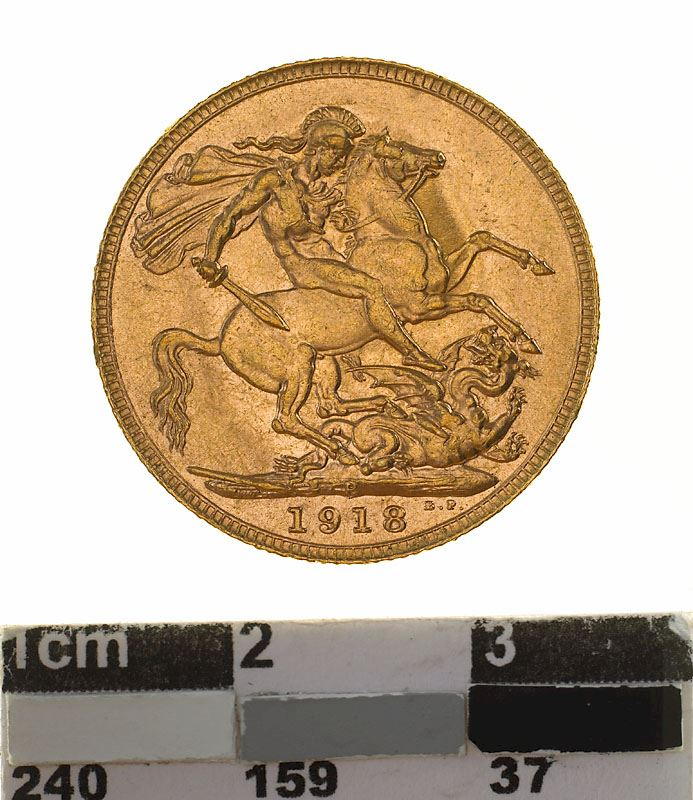 Sovereign 1918: Photo Coin - Sovereign, Western Australia, Australia, 1918