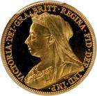 United Kingdom / Sovereign 1893 Veiled head - obverse photo