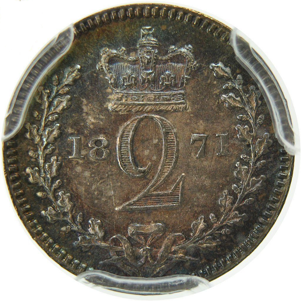 Twopence 1871 (Maundy): Photo Coin, Great Britain, Victoria, 2 Pence, 1871
