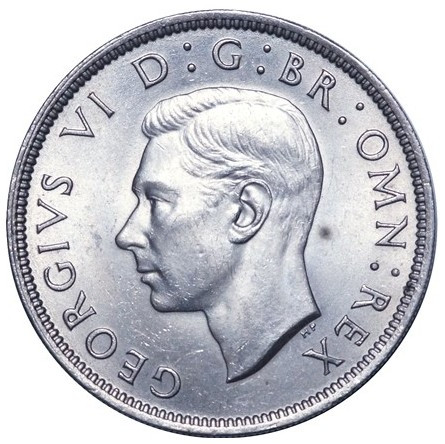 Two Shillings (Florin) 1951: Photo George VI, Cupro-nickel Florin,1951