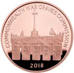 United Kingdom / Five Pounds 2018 Commonwealth War Graves - reverse photo