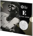 United Kingdom / Five Pounds 2020 Music Legends - Elton John / The Very Best Of - reverse photo