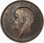 Florin 1928: Photo Proof Coin - Florin (2 Shillings), George V, Great Britain, 1928