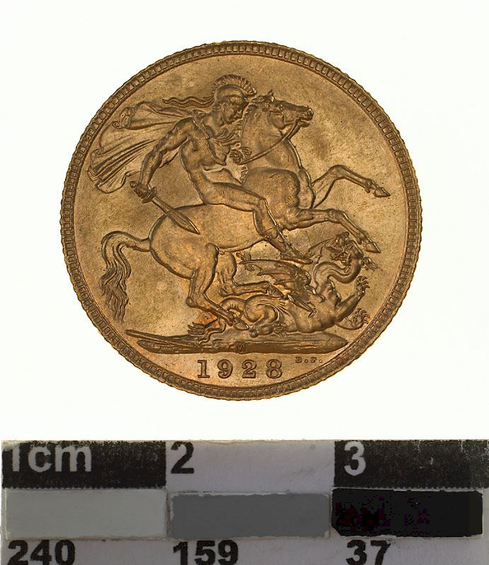 Sovereign 1928: Photo Coin - Sovereign, Victoria, Australia, 1928