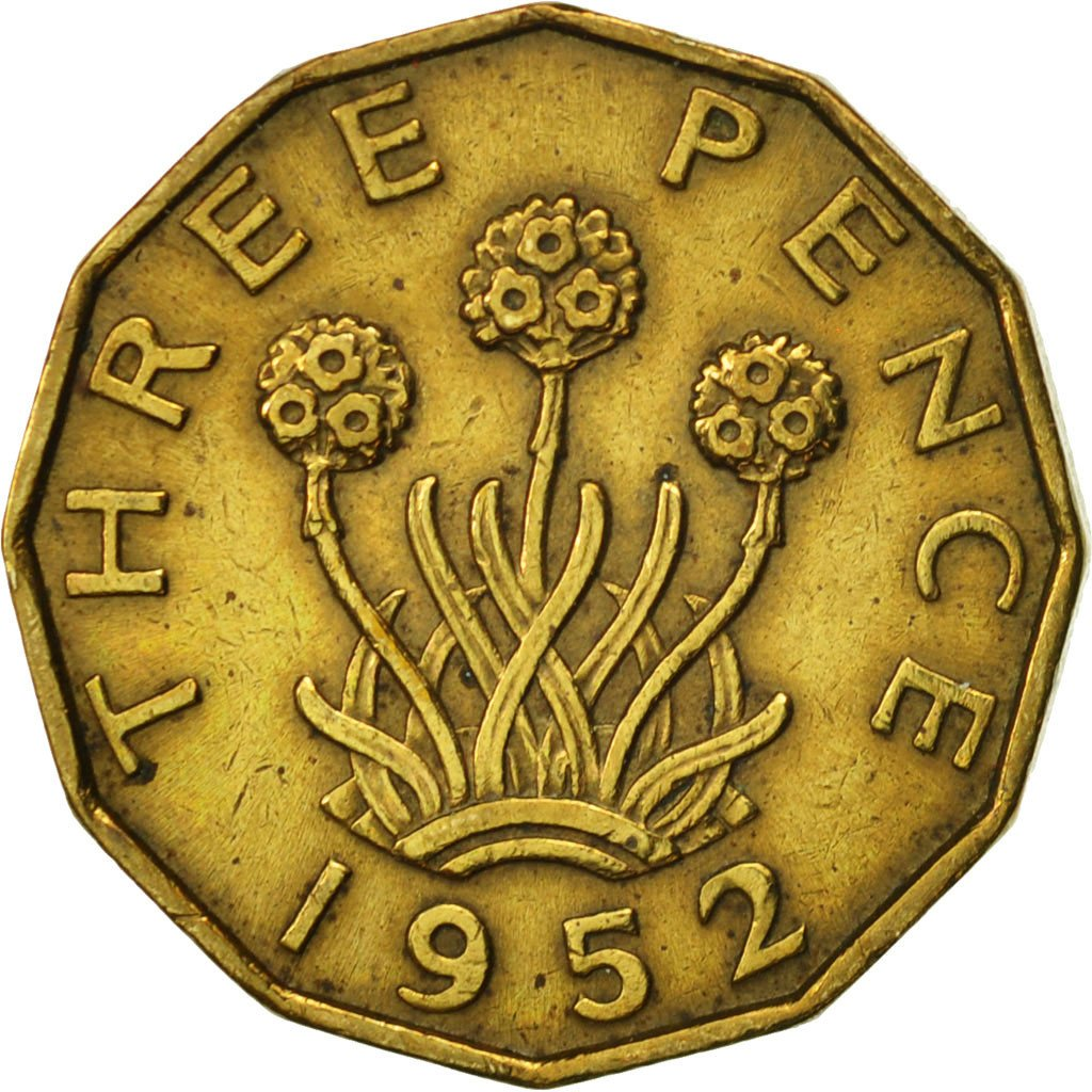 Threepence 1952 (Brass): Photo Coin, Great Britain, 3 Pence, 1952