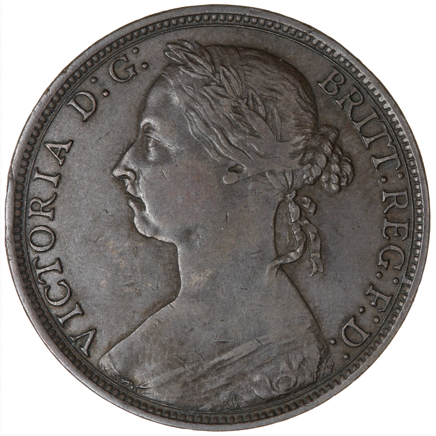 Penny 1890: Photo Coin - Penny, Queen Victoria, Great Britain, 1890