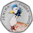 United Kingdom / Fifty Pence 2016 Jemima Puddle-Duck / Silver Proof FDC - reverse photo