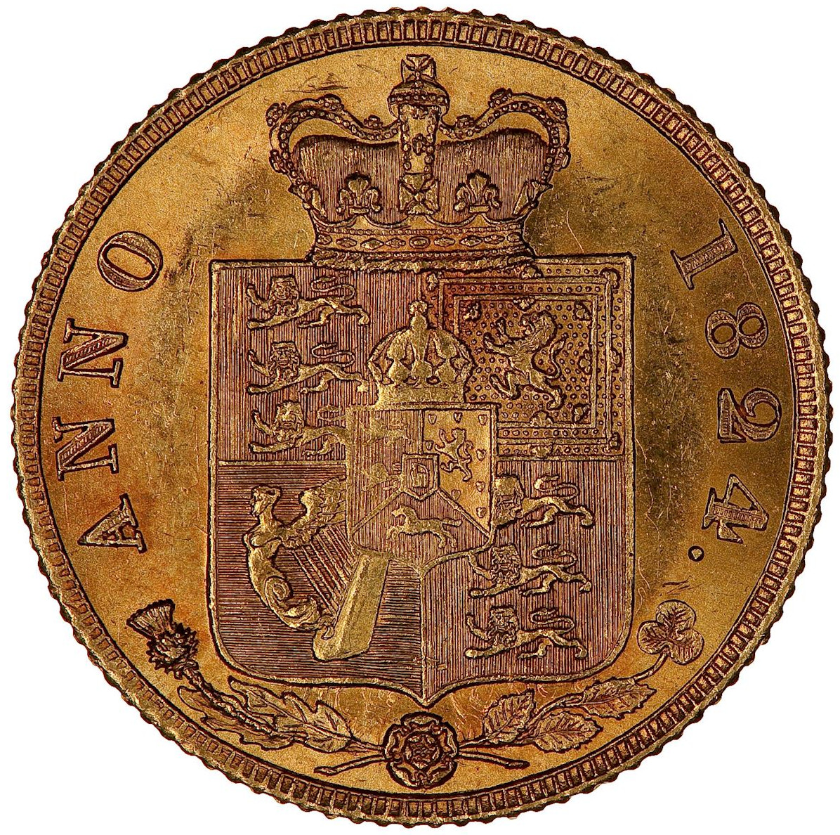 Half Sovereign 1824: Photo Coin - Half-Sovereign, George IV, Great Britain, 1824