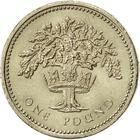 United Kingdom / One Pound 1992 Oak Tree and Diadem - reverse photo