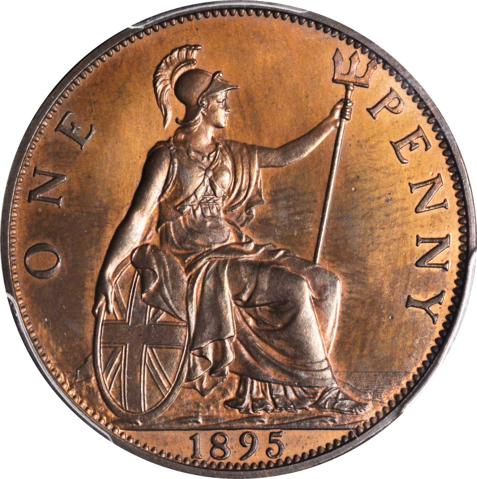 Penny (Pre-decimal): Photo Great Britain 1895 penny