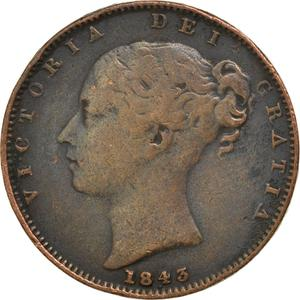 United Kingdom / Farthing 1843 - obverse photo