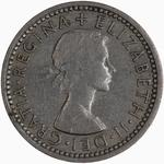 Sixpence 1958: Photo Coin - Sixpence, Elizabeth II, Great Britain, 1958