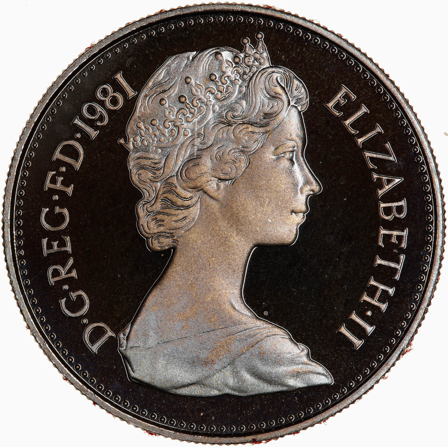 Five Pence 1981 (Proof only): Photo Proof Coin - 5 New Pence, Elizabeth II, Great Britain, 1981