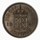 Sixpence 1947: Photo Coin - Sixpence, George VI, Great Britain, 1947