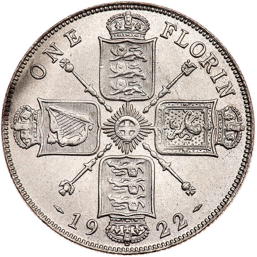 Florin 1922: Photo Great Britain 1922 florin
